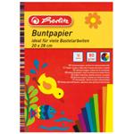 Papír barevný 20x28 cm,10 listů