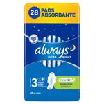 Always Ultra Night (Velikost 3) Hygienické Vložky S Křidélky 28 ks
