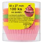 Papírové košíčky mix barev 50x27mm 100 ks