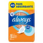 Always Ultra Hygienické Vložky Normal (V1) S Křidélky 40 ks