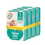 Happy Mimi Flexi Comfort dětské plenky 1 Newborn 112 ks - měsíční balení