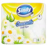 Sindy Camomile toaletní papír 3 vrstvy 4 role