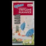 Q-Home Jednorázové vinylové rukavice velikost S/M 50ks