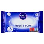 Nivea Baby Fresh & Pure Ubrousky 63 ks