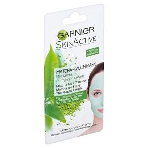 Garnier Skin Active Čisticí kaolinová maska s výtažky čaje matcha a bílým jílem 8ml