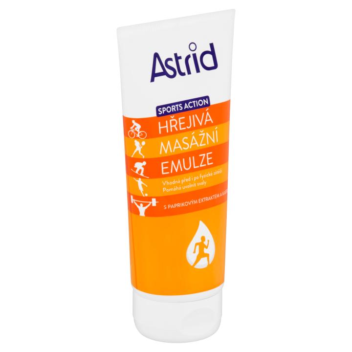 Astrid Sports Action Hřejivá masážní emulze 200ml