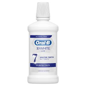 Oral-B 3D White Luxe Perfection Ústní Voda 500 ml, Bez Alkoholu