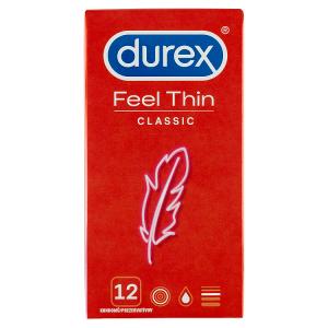 Durex Feel Thin Classic kondomy 12 ks