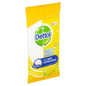Dettol Power & Fresh antibakteriální víceúčelové ubrousky citron a limeta 32 ks
