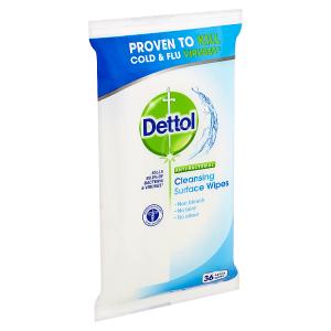 Dettol Antibakteriální ubrousky na povrchy 36 ks