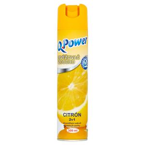 Q-Power Osvěžovač vzduchu citrón 2v1 300ml
