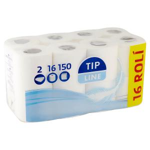 Tip Line Jemný 2-vrstvý toaletní papír 16 ks