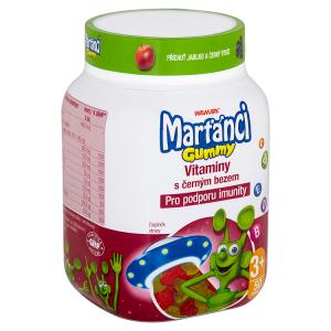 Walmark Marťánci Gummy vitaminy s černým bezem 50 tablet 175,0g