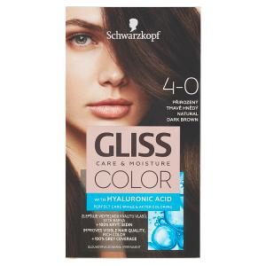 Schwarzkopf Gliss Color barva na vlasy Přirozený Tmavě Hnědý 4-0