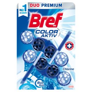 Bref Color Aktiv Chlorine tuhý WC blok 2 x 50g