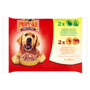 Propesko Kompletní krmivo pro dospělé psy všech plemen 4 x 100g