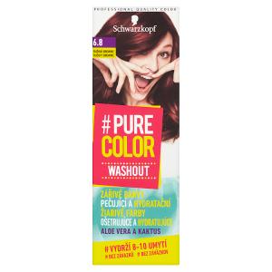 Schwarzkopf Pure Color Washout barva na vlasy Růžová Brownie 6.8
