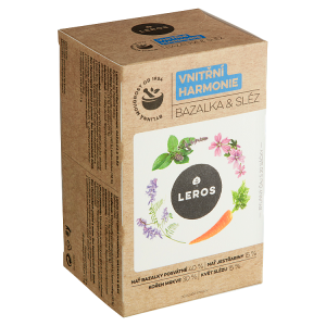 Leros Vnitřní harmonie bazalka & sléz bylinný čaj 20 x 1,3g (26g)