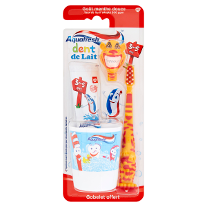 Aquafresh Little Teeth Zubní pasta a zubní kartáček 3-5 let 50ml