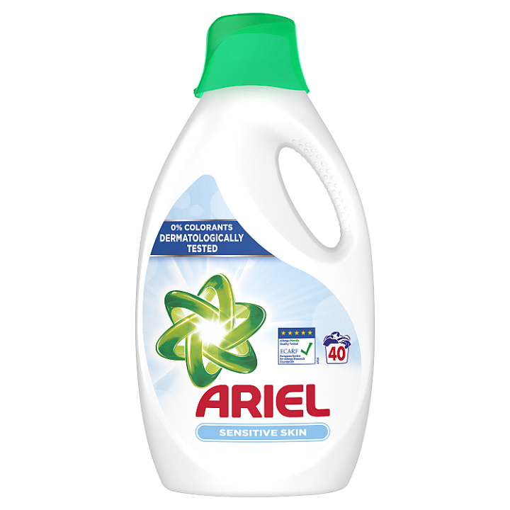 Ariel Sensitive Tekutý Prací Prostředek 2.2l, 40 Praní