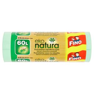 Fino Eko Natura rozložitelné odpadkové pytle 60l 20 ks