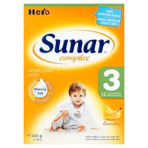 Sunar Complex 3 sušená mléčná výživa pro malé děti banán 2 x 300g