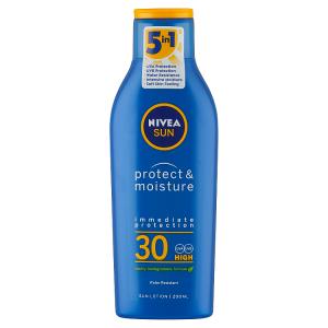 Nivea Sun Protect & Moisture Hydratační mléko na opalování OF 30 200ml