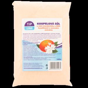Tip Line Koupelová sůl s vůní mandarinky a AHA kyselinami v ovocném extraktu 1000g