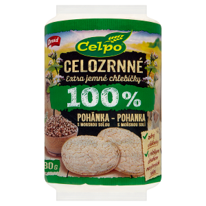Druid Celpo Celozrnné extra jemné chlebíčky 100 % pohanka s mořskou solí 80g
