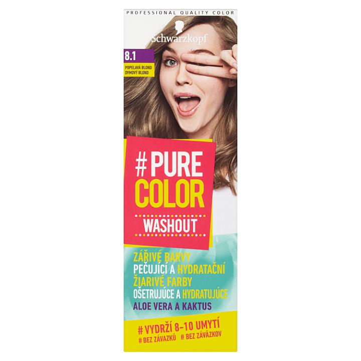 Schwarzkopf Pure Color Washout barva na vlasy Popelavá Blond 8.1