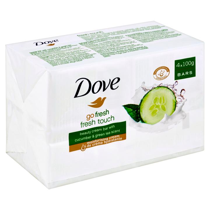 Dove Go Fresh Okurka a zelený čaj Krémová tableta na mytí 4 x 100g