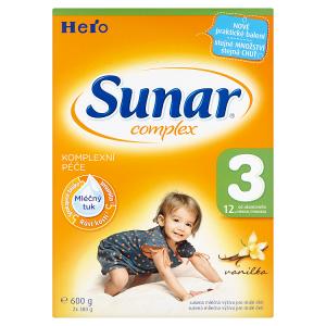 Sunar Complex 3 sušená mléčná výživa pro malé děti vanilka 2 x 300g