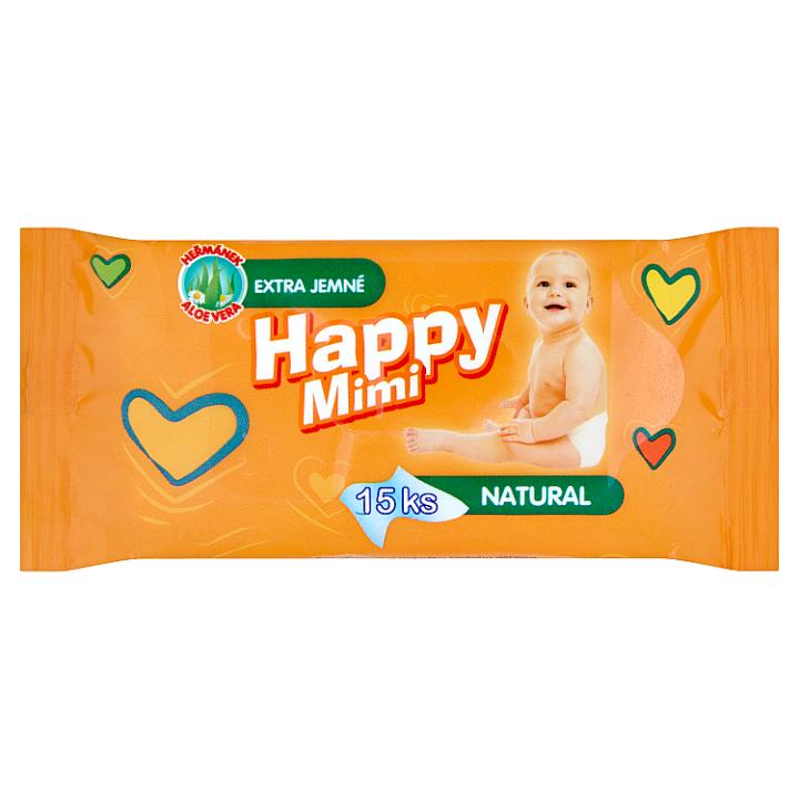 Happy Mimi dětské vlhčené ubrousky 15 ks