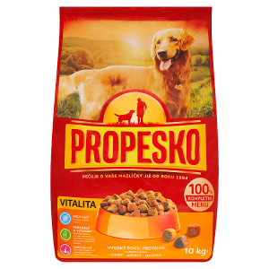 Propesko Vitalita S drůbežím, hovězím a zeleninou kompletní krmivo pro dospělé psy 10kg
