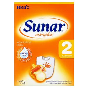 Sunar Complex 2 pokračovací sušená mléčná kojenecká výživa 2 x 300g