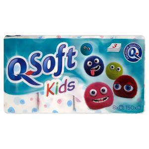 Q-Soft Toaletní papír Kids 3 vrstvý 8 ks