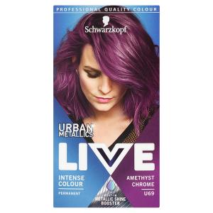 Schwarzkopf Live Urban Metallics barva na vlasy Amethyst Chrome U69