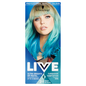 Schwarzkopf Live Ultra Brights or Pastel barva na vlasy 096 Turquoise Temptation
