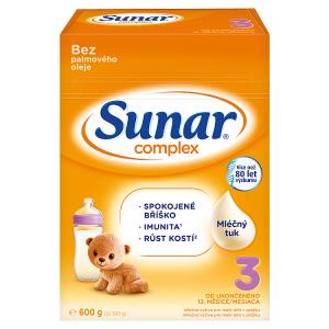 Sunar Complex 3 mléčná výživa pro malé děti v prášku od ukončeného 12. měsíce 2 x 300g (600g)
