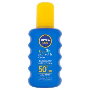 Nivea Sun Protect & Care Dětský barevný sprej na opalování OF 50+ 200ml