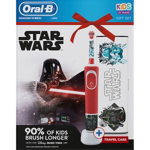 Oral-B Kids Star Wars Elektrický Zubní Kartáček S Technologií Od Brauna + cestovní pouzdro