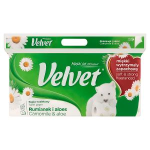 Velvet Camomile & Aloe toaletní papír s vůní 3 vrstvy 8 rolí