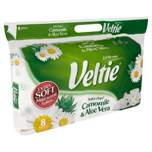 Veltie Camomile & aloe vera toaletní papír s vůni 3 vrstvy 8 ks