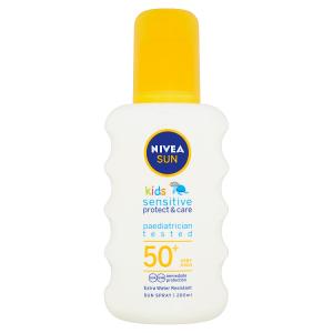 Nivea Sun Sensitive Protect & Care Dětský sprej na opalování OF 50+ 200ml