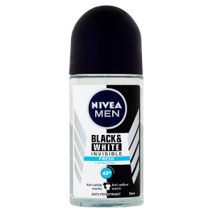 Nivea Men Black & White Invisible Fresh Kuličkový antiperspirant 50ml