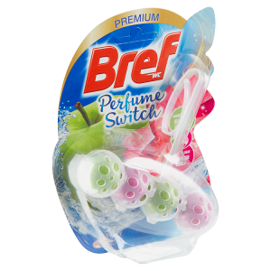 Bref Perfume Switch Green Apple - Water Lily tuhý WC blok 50g