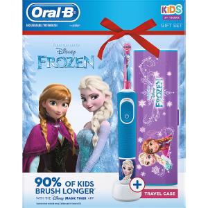 Oral-B Kids Ledové Království Elektrický Zubní Kartáček S Technologií Od Brauna + cestovní pouzdro