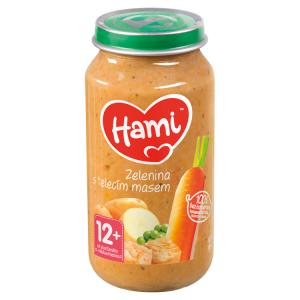 Hami masozeleninový příkrm Zelenina s telecím masem od uk. 12. měsíce 250g