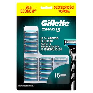 Gillette Mach3 Pánské Holicí Hlavice, Náhradní Holicí Hlavice 16 ks