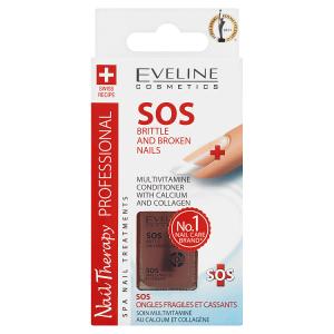 Eveline Cosmetics Nail Therapy Professional SOS multivitaminový kondicionér s vápníkem 12ml